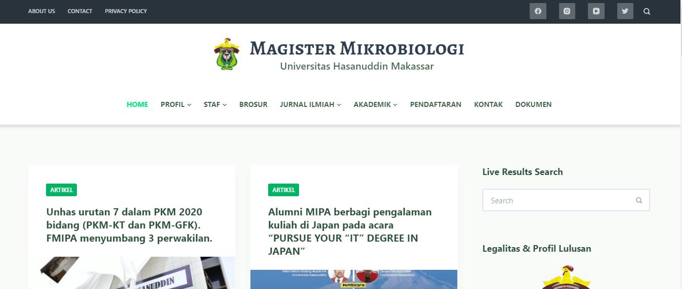 Magister Mikrobiologi Universitas Hasanuddin Makassar